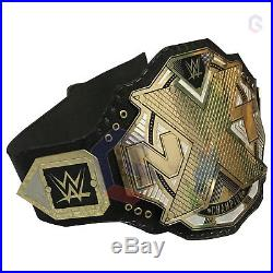 WWE NXT Wrestling Championship Belt Metal Brass Plates Real Leather Replica Belt