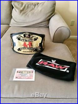 WWE RAW World Tag Team Championship Title Deluxe Replica Belt
