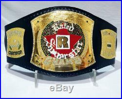 WWE R Rated Superstar Championship Wrestling Belt Adult Size Real Leather REPLIC