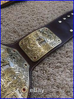 WWE Real Big Gold Championship hand stitched Real Leather Belt NWA WCW AWA WWF