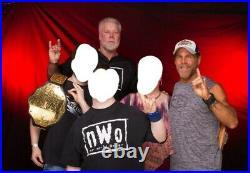 WWE Replica Championship Belt Signed Bret Hart Shawn Michaels Kevin Nash