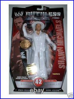 WWE SHAWN MICHAELS figure with Leather Belt RUTHLESS AGGRESSION #42 1 of 500 MIP