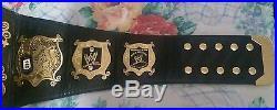 WWE SMACKDOWN RAW UNDISPUTED championship belt V2 metal plates replica ADULT
