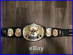 WWE Smoking Skull Replica Championship Belt on real leather
