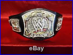WWE Spinner Championship Belt Adult Size Maximum is 52 Used Replica Awesome