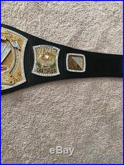 WWE Spinner Scratch Logo Championship Belt Adult Metal Plates Replica