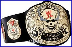 WWE Stone Cold Smoking Skull Championship Replica Title Belt leather Zinc Brass