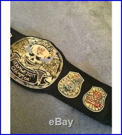 WWE Stone Cold Smoking Skull championship replica belt adult with leather strap
