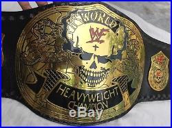 WWE Stone Gold Smoking Skull Championship Real Leather Replica Belt 4mm