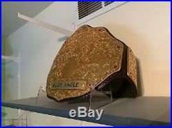 WWE Style Big Gold REAL Wrestling Championship Belt RIC Flair Kurt Angle