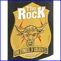 WWE THE ROCK Brahma Bull Deluxe Collectors Replica Title Belt Swarovski New
