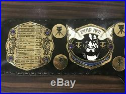 WWE The Phenom Undertaker Championship Leather Replica Thick Plated Belt Adults