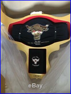 WWE The Rock Brahma Bull Deluxe Collector's Championship Belt #35/100