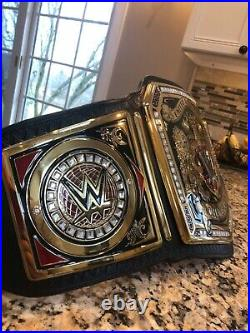 WWE UK Championship Belt REAL LEATHER