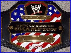 WWE UNITED STATES US CHAMPIONSHIP ADULT SIZE REPLICA TITLE BELT with METAL PLATES