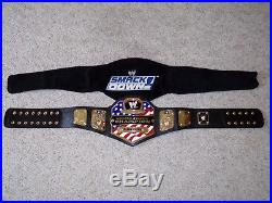 WWE UNITED STATES US CHAMPIONSHIP METAL ADULT SIZE REPLICA BELT with SMACKDOWN BAG
