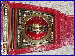 WWE UNIVERSAL CHAMPIONSHIP METAL ADULT REPLICA BELT w WRESTLEMANIA 35 SIDEPLATES
