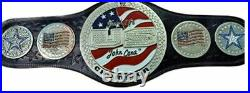 WWE US John Cena Spinner Championship Replica Adult Belt with Genuine Leather