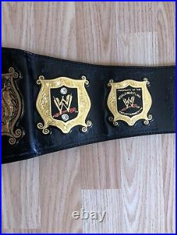 WWE Undisputed Championship Figures Toy Co. Replica Adult Title Belt With Bag