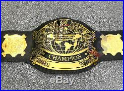 WWE Undisputed Version 2 Championship Replica Belt In Brass Plates. REAL LEATHER