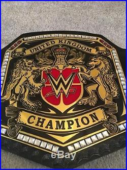 WWE United Kingdom championship replica Leather adult Size Belt Plus Carry Case