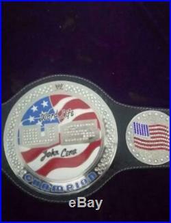 WWE United States Jhon Cena Spinner Championship Belt Real Leather 2MM Metal Bra