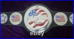 WWE United States Jhon Cena Spinner Championship Belt Real Leather Adult Replica