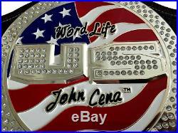 WWE United States Jhon Cena Spinner Zinc Plated Championship Belt (Replica)