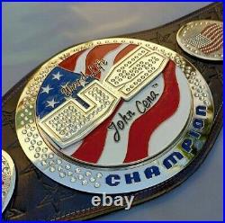 WWE United States John Cena Spinner Brass Plated Championship Belt (Replica)