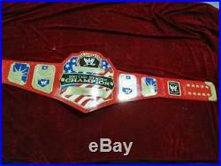 WWE United States Wrestling Championship Red Belt. Adult Size 2mm Plates