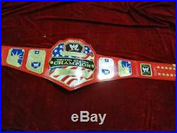WWE United States Wrestling Championship Red Belt. Adult Size 2mm Plates