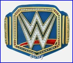 WWE Universal Champion Title Belt Blue 2 MM Brass Plate