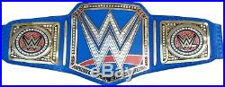 WWE Universal Championship Blue Replica Title Belt Leather Zinc / Brass 2mm 4mm
