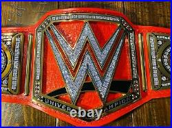 WWE Universal Championship(Red) Upgraded Replica Belt, restoned, releathered