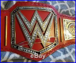 WWE Universal Championship Replica Belt Metal Plates Adult Size Real Leather