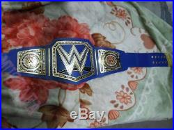 WWE Universal Championship Replica Title Belt Adult Size Blue (Dual plate 2mm)