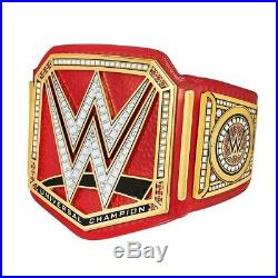 WWE Universal Championship Replica Title Belt Red Leather METAL PLATES
