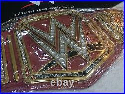 WWE Universal Championship Wrestling Belt Adult Size Metal Plates Real Deal WCW
