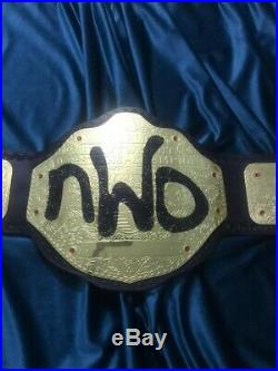 WWE WCW NWO World Big Gold Championship Wrestling Title Replica Belt