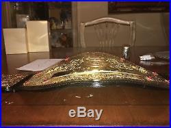 WWE WCW World Heavyweight Championship Belt Adult replica Signed Swarovski Sting