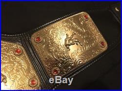 WWE WCW World Heavyweight Championship Replica Belt Flair Hogan Metal Plates