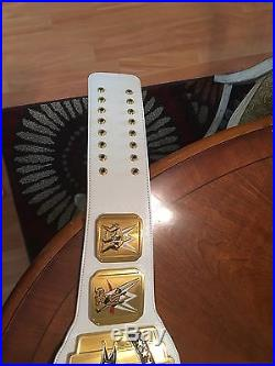 Wwe White Intercontinental Championship Adult Size Replica Belt Network Logo