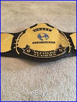 WWE WWF 4mm Replica Winged Eagle Championship Title Belt free carry case