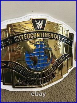 WWE WWF Authentic Metal Intercontinental Championship Replica Belt White Shop
