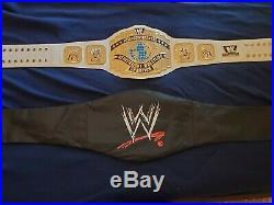 WWE WWF Authentic White INTERCONTINENTAL Championship Belt Adult Sized