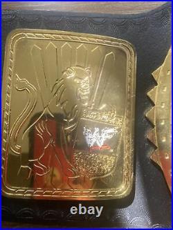 WWE WWF BIG EAGLE ATTITUDE ERA REPLICA CHAMPIONSHIP TITLE BELT 4mm Brass