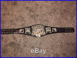 WWE WWF CM PUNK SIGNED AUTOGRAPHED SPINNER HEAVYWEIGHT CHAMPIONSHIP BELT 5 Ins