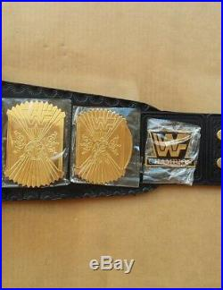 WWE WWF Classic Gold Winged Eagle Championship Belt Brass Plated Gold Adult Belt