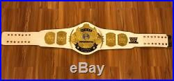 WWE / WWF Classic Gold Winged Eagle Championship Replica White Adult Title Belt