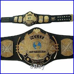 WWE WWF Dual Plated Gold Winged Eagle Wrestling Championship Brass Metal Belt